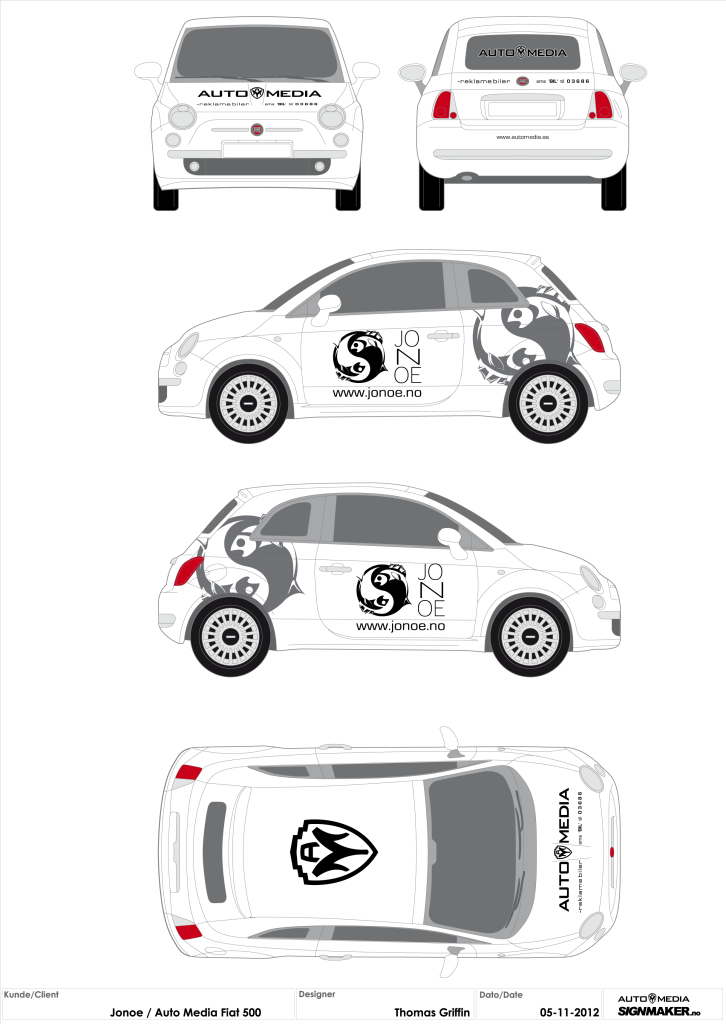 Jonoe sushi/Automedia Vehicle Identity (Illustrator/FlexiSIGN)