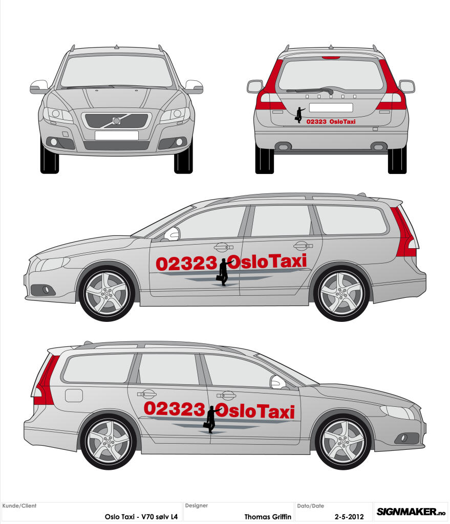 Oslo Taxi Concept (Illustrator/FlexiSIGN)