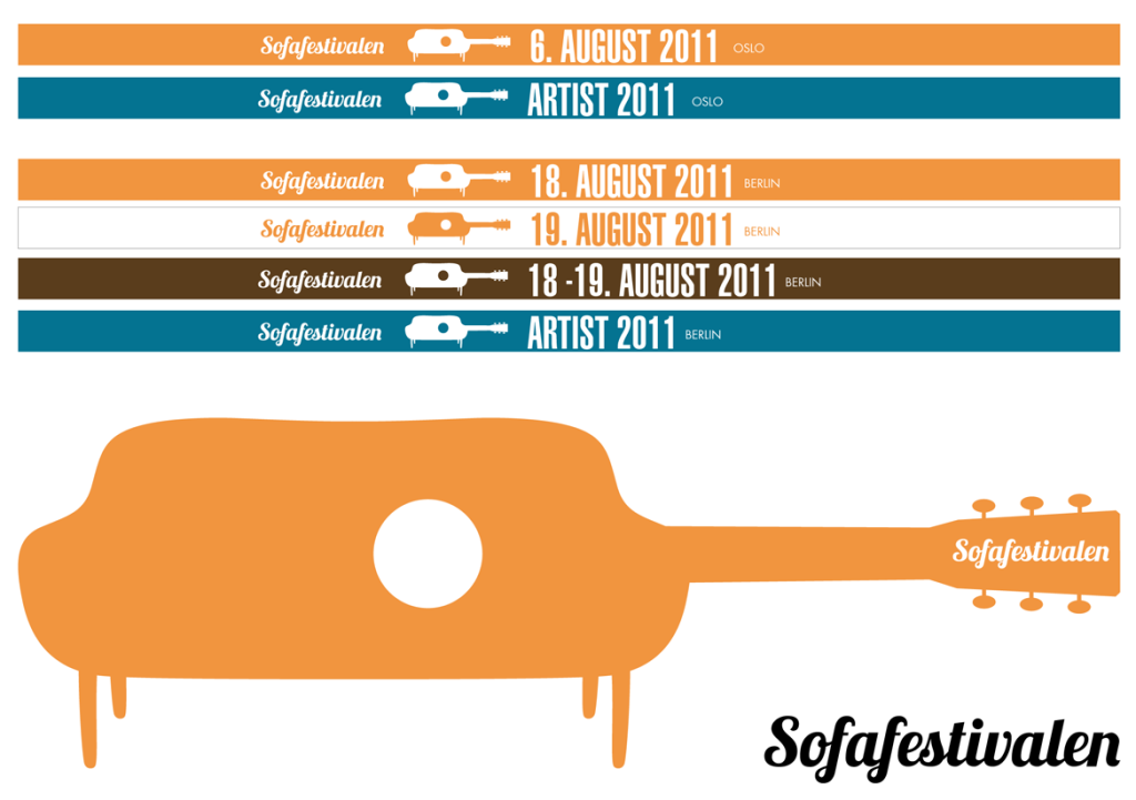 Logo and wristbands for Sofafestvalen in Oslo and Berlin. www.sofafestivalen.com
